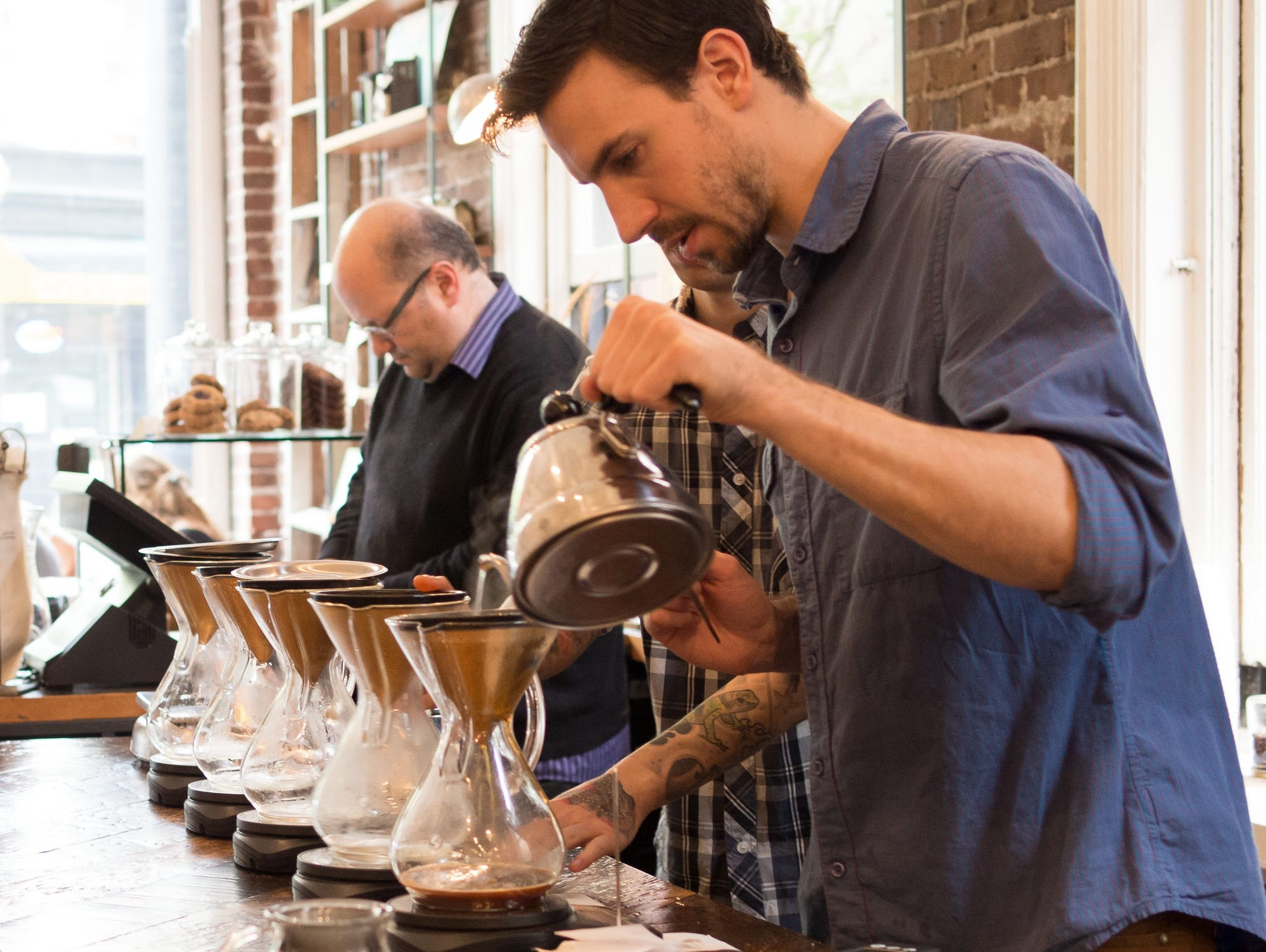 Working the pour over
