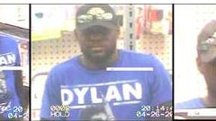 This man is suspected or robbing a Sears on April 26.
