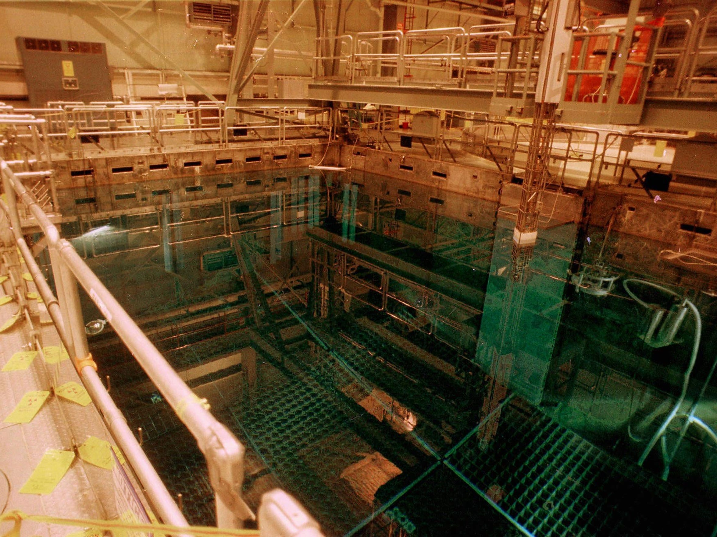A nuclear fuel storage pool is seen in this December 1997 file photo in Vernon, Vt.