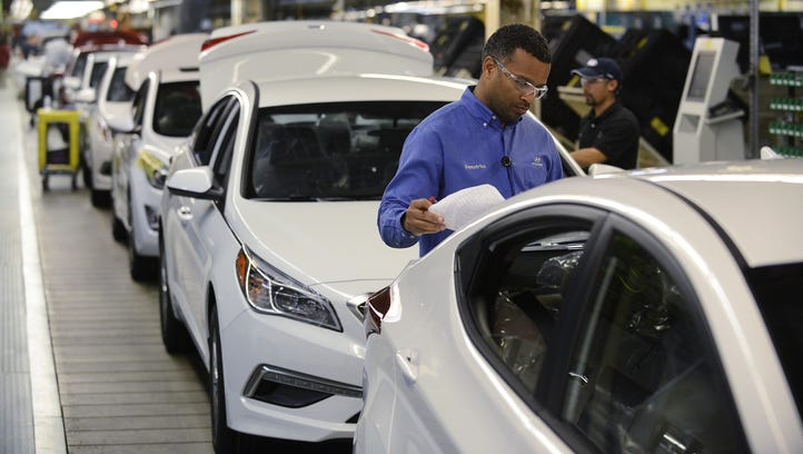 The Hyundai assembly plant in Montgomery builds the company's two top selling vehicles in North America.