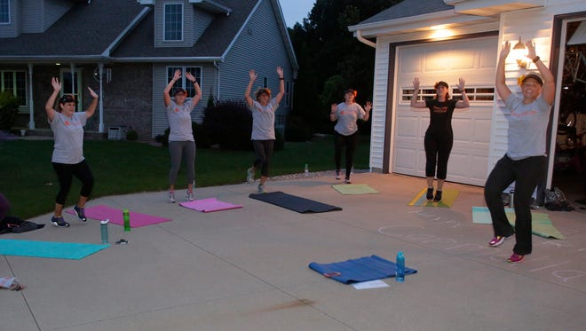 The Fiercely United Flowers held their boot camp workout Thursday, Aug. 24, 2017.  About 15 people participated in the workout which is geared toward women.