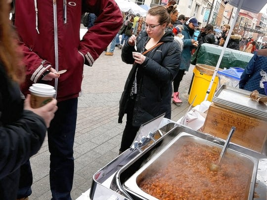 Chili tasters test out chili from Coltivare during