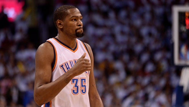Kevin Durant has played his entire nine-year career with the Oklahoma City franchise.