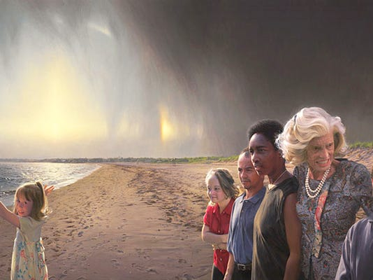 York native Loretta Claiborne is depicted along with other Special Olympians and Eunice Kennedy Shriver in this portrait that was commissioned by the Smithsonian's National Portrait Gallery. From left are Airika Straka, Katie Meade, Andy Leonard, Claiborne, Shriver and Marty Sheets. This was the first portrait commissioned by the museum that was not of a person who had served as president or first lady.
