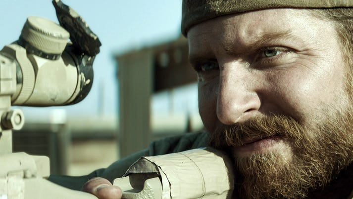 Bradley Cooper portrays Navy SEAL Chris Kyle in a scene