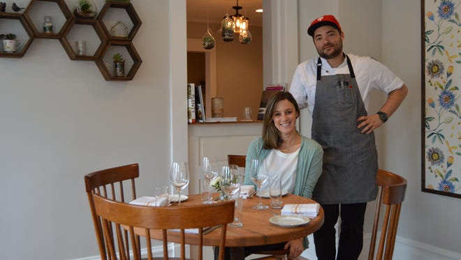 Heirloom owner, Meghan Lee, poses with executive chef Jordan Miller. Heirloom recently opened in downtown Lewes.
