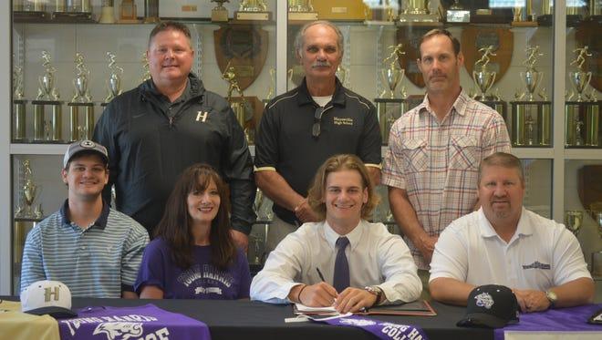Hayesville senior Kyle Rhinehardt has signed to play college baseball for Young Harris (Ga.).