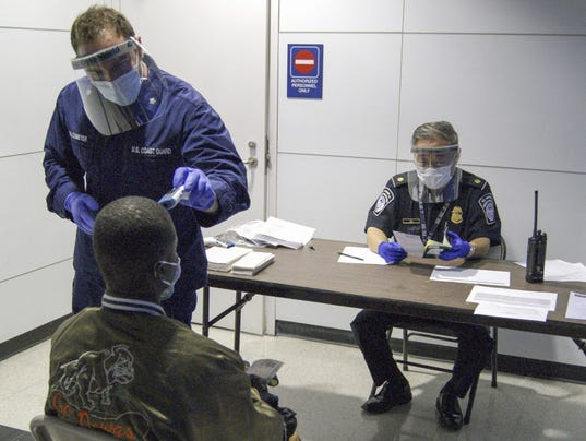 EPA USA EBOLA SCREENING AT US AIRPORTS HTH HEALTH TREATMENT USA IL