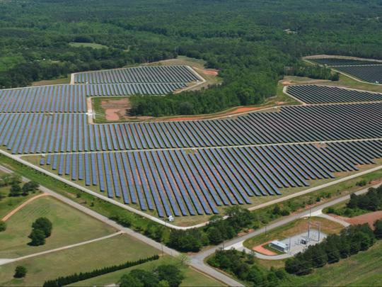 Silicon Ranch's solar farm near Social Circle, Georgia,