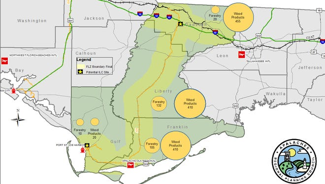 TheGulf to Gadsden Freight Logistics Zone— made up of Gulf, Franklin, Liberty and Gadsden counties — is designed to create a new economic boost to the rural areas with the use of theApalachicola Northern Railway, owned by St. Joe Co.