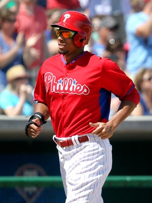 Aaron Altherr is on top of the depth chart in left field for the Phillies.