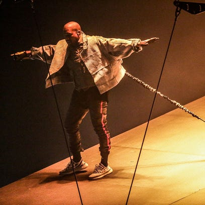 Kanye West performs Thursday night at Bankers Life