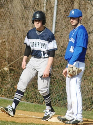 Hawthorne senior Ryan Morse (right) started the season 2-0 with a sparkling 1.27 ERA and 18 strikeouts in 22 innings pitched.