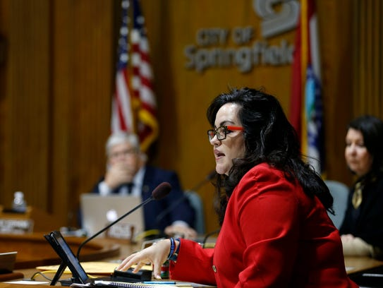 City Councilwoman Kristi Fulnecky comments on a council