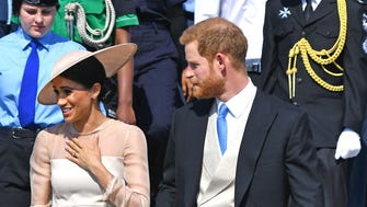Meghan, the Duchess of Sussex, and Prince Harry carried out their first official appearance as a married couple Monday as they attended an event commemorating Prince Charles' 70th birthday.
