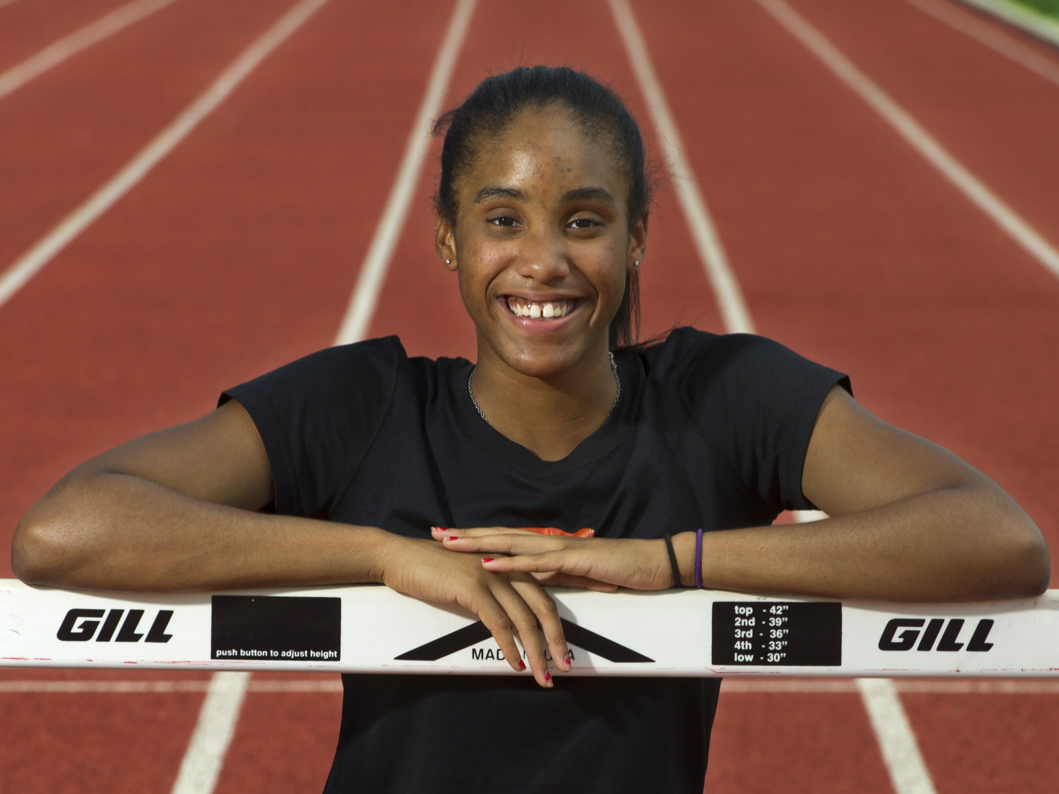 Ensworth's Tyra Gittens won the DII pentathlon and then four more first-place medals at Spring Fling.