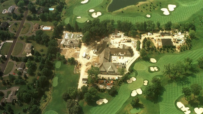 This is a 2002 aerial view of Asherwood during construction.