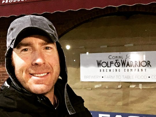 Michael Chiltern of the new Wolf & Warrior Brewing