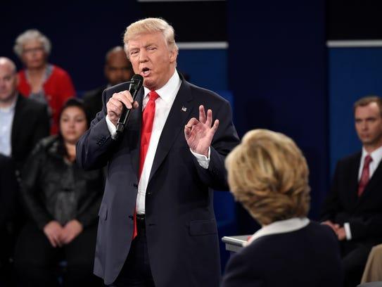 Donald Trump dijo en su más reciente debate presidencial