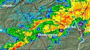 Storms move through Alabama.