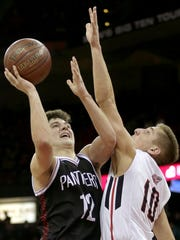 Stevens Point Area Senior High's Trevor Anderson won a state championship and was named the Associated Press boys basketball player of the year in his senior senior this winter