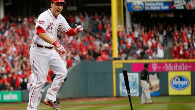 Reds third baseman Todd Frazier cast the first official All-Star game balloting vote on Wednesday.