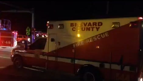 A BCFR rescue truck and SUV crashed Friday night, injuring 8.