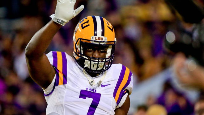 Fournette ran for 40 touchdowns in three seasons at LSU.