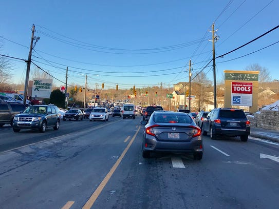 Traffic has been unusually heavy on Hendersonville