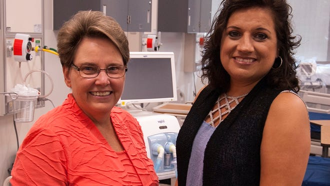 Program director Cathy Garner (left) and instructor and clinical director Christie Ward (right) will admit the first class of respiratory care students at JSCC in the spring 2018 term.