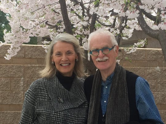 Artist John Glick and his wife Susie Symons. The two were partners and soulmates for 37 years.