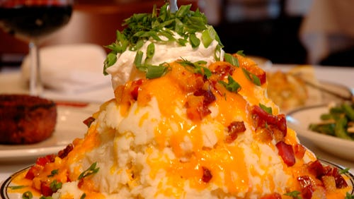 Kaminski's Chop House in Wisconsin Dells has some of the best Mashed Potatoes Fully Loaded.