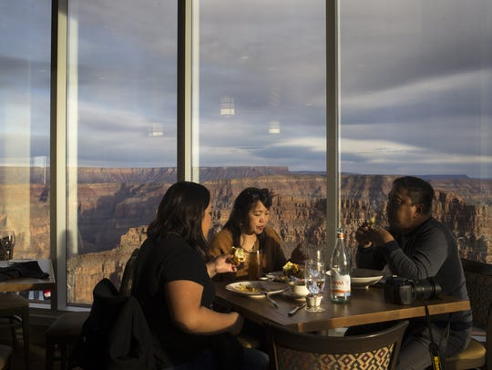 Visitors dine at the Sa' Nyu Wa Restaurant, January