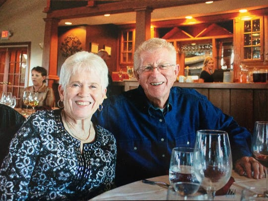 Patricia Snyder and her husband of 55 years.