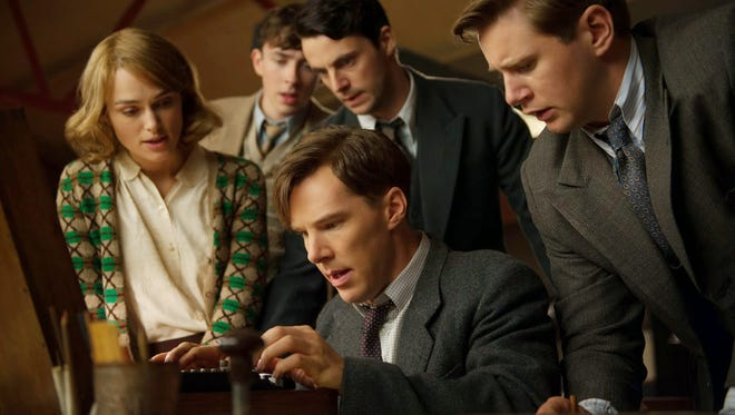 """Benedict Cumberbatch, center, and Keira Knightley, left, star in """"The Imitation Game."""""""