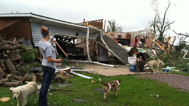 A tornado ripped through this home at 45715 261st St. in Humboldt on Tuesday night, June 17, 2014.