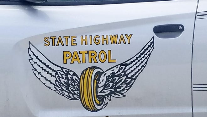 Ohio State Highway patrol flying wheel logo, March 6, 2019.