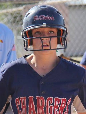 Mary Mentz played center field, pitcher and shortstop and collected her 100th career hit for McClintock in an 18-2 loss to Poston Butte.