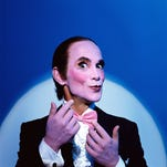 Is life a 'Cabaret' for Joel Grey? Here he is in 'Cabaret' character. He won an Oscar for his performance in the 1972 film.
