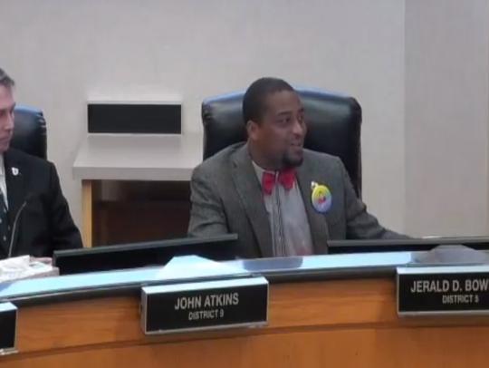 Commissioner Jerald Bowman shared genuine, heartfelt