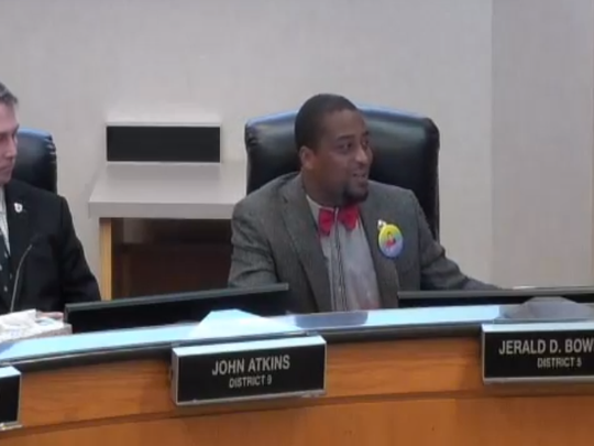 Commissioner Jerald Bowman shared genuine, heartfelt appreciation for other commissioners at Thursday's meeting.
