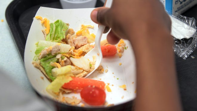 Salad is a staple on the lunch menu at  Rockdale Academy, Avondale.  The Enquirer/Patrick Reddy