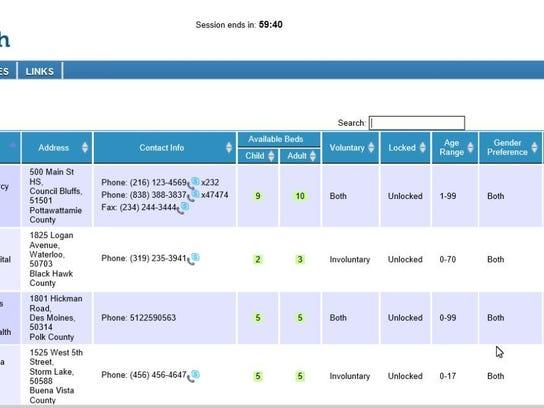 hospital tracking system screen shot