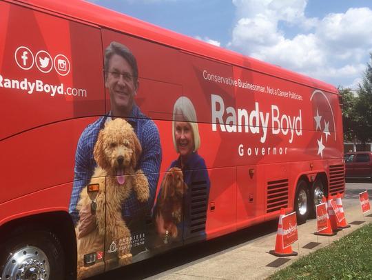 Randy Boyd campaign bus