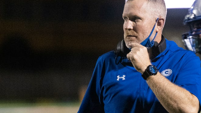 Georgetown head coach Chuck Griffin ad the Eagles lost a season-opening game to Belton, 35-31