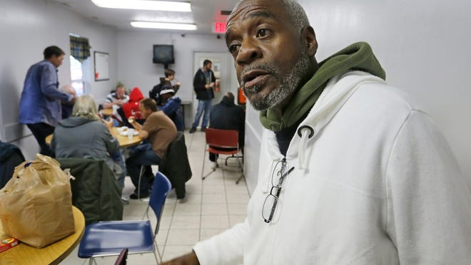 Kenneth Thompson, 56, says he supports the idea of establishing a single point of entry for services for the homeless. Thompson was getting lunch at Mental Health America, where he has been a client for the past four to five years.