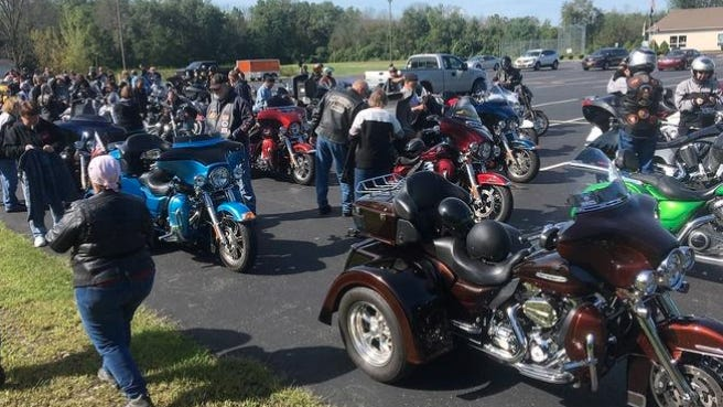 Pictured is images from a previous Ride for the Red event.