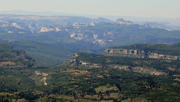 The view from Blowhard Mountain near Cedar Breaks National