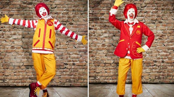 A new look for Ronald McDonald.