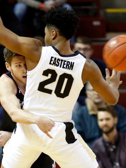 The Latest: No. 23 Purdue advances by beating Davidson 79-58